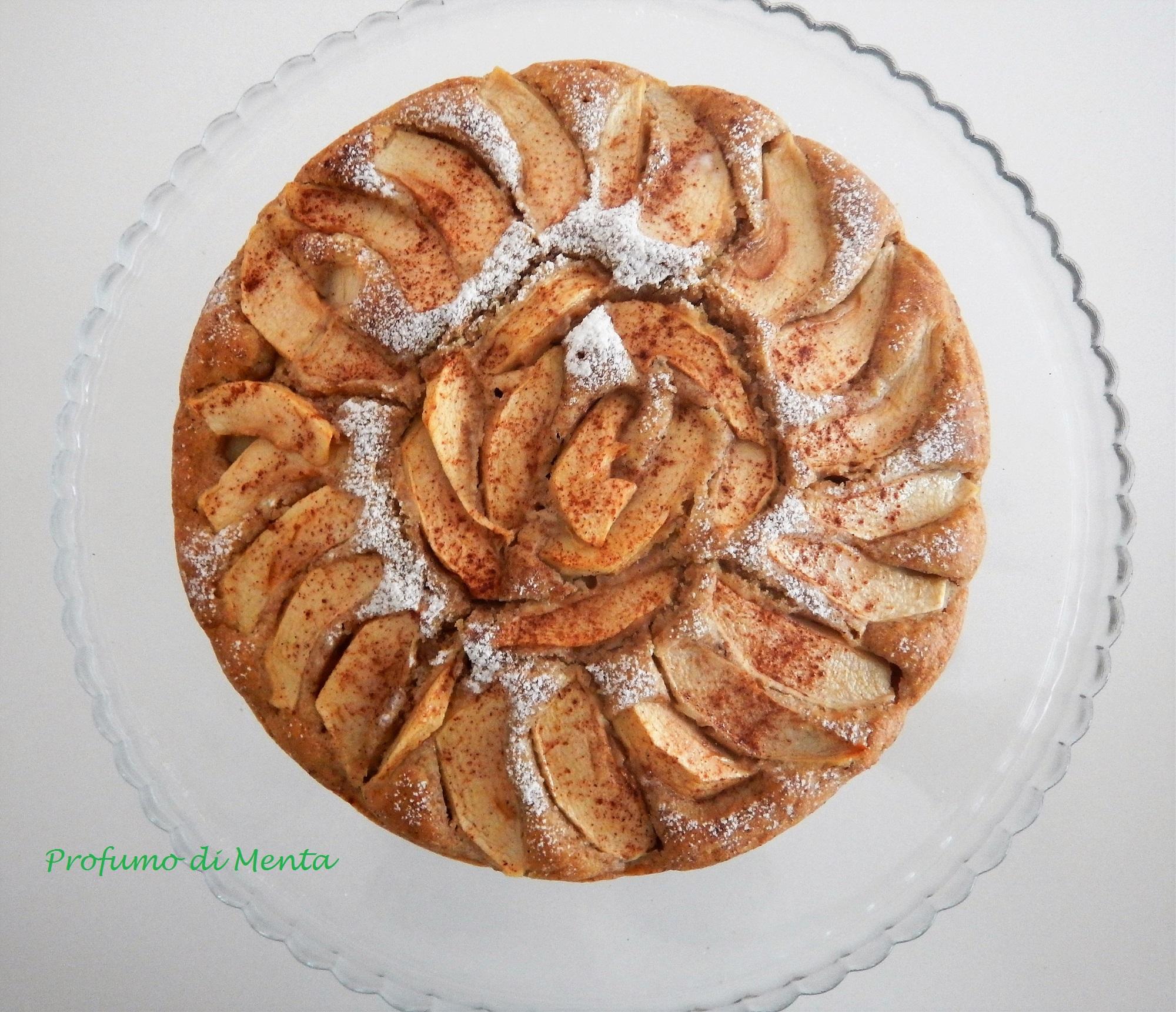 torta di mele senza uova o burro
