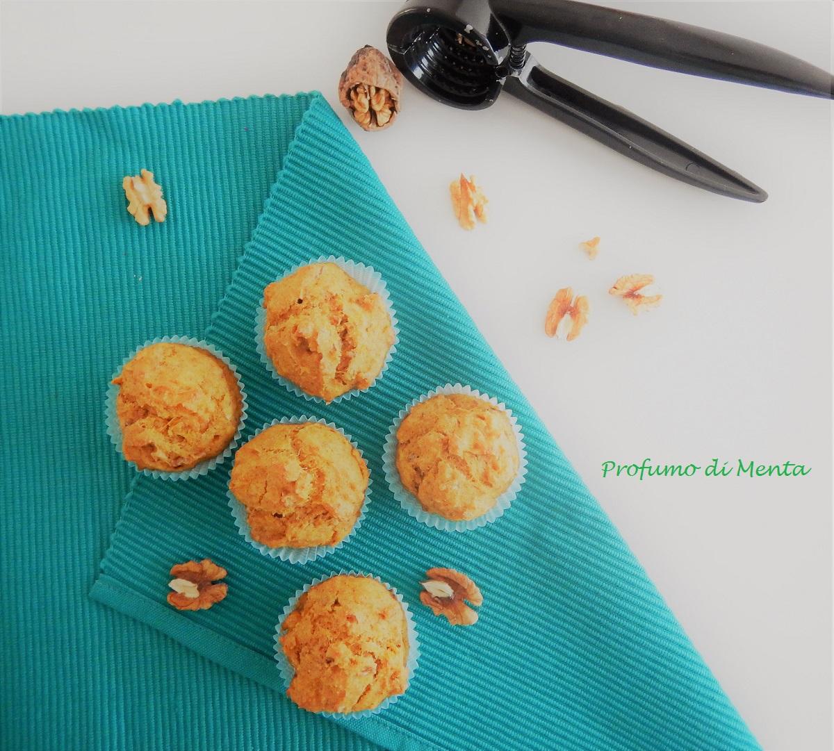 muffin salati alla zucca e noci