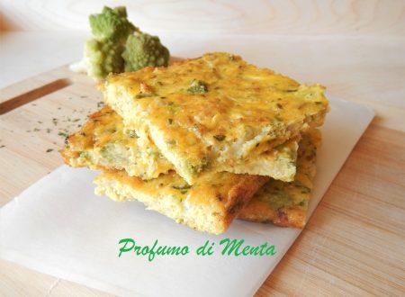 Frittata al forno con broccoli romaneschi